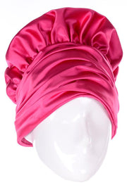 Ruched vintage pink hat with bakers top