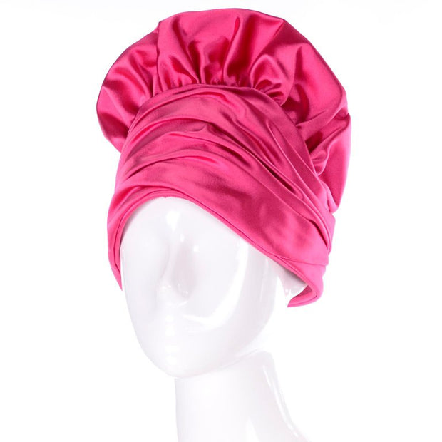Dramatic statement hat in hot pink