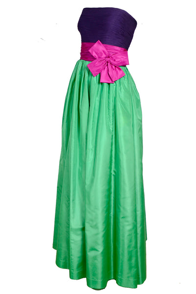 Nina Ricci Boutique color block evening gown