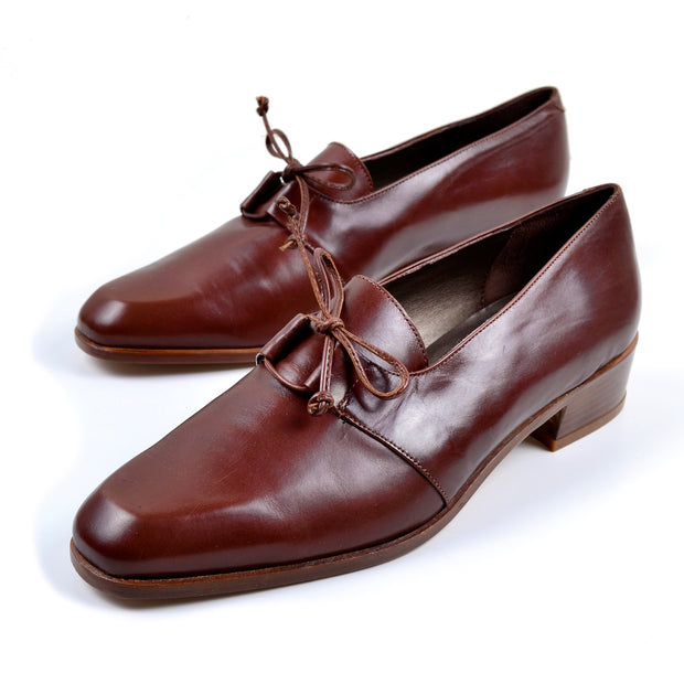 1970's women's oxford leather shoes made in Italy