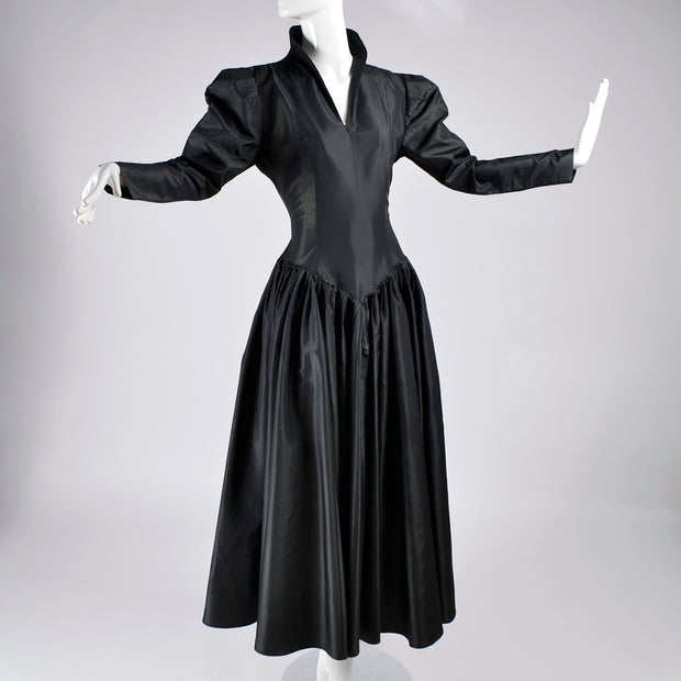 1980s Norma Kamali Dress in Black