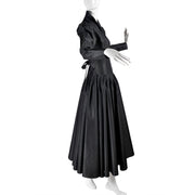 Norma Kamali 1980s Black Dress Vintage taffeta