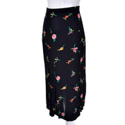 Floral Silk Fish Tail Norma Kamali Skirt