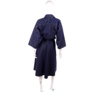 1980s Norma Kamali Dark Blue Vintage Denim Dress