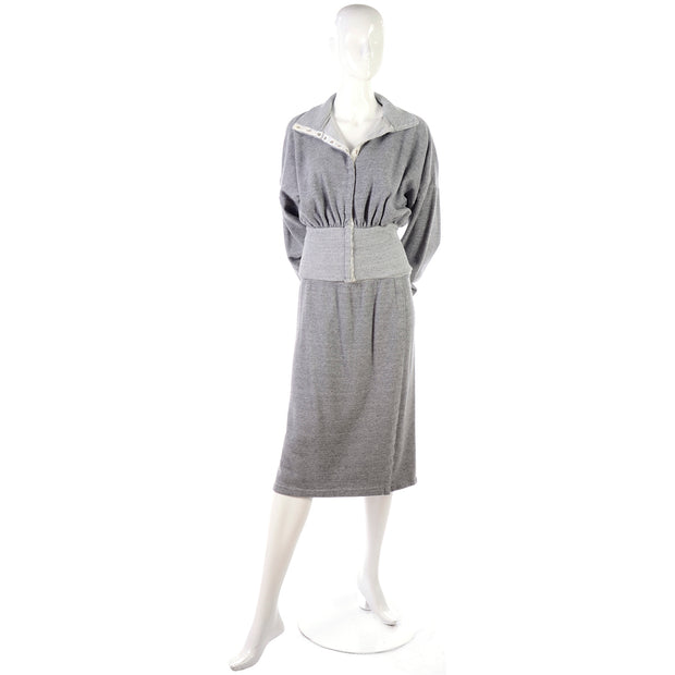 1980s Norma Kamali Sweatshirt Dress