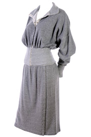 Norma Kamali 1980 Sweats Vintage Dress w/ Sweater Top and Skirt