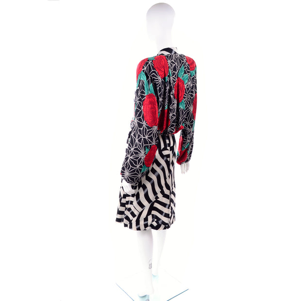 Norma Walters 1980's silk vintage dress