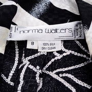 1980s Norma Walters Label size 8 Silk Dress