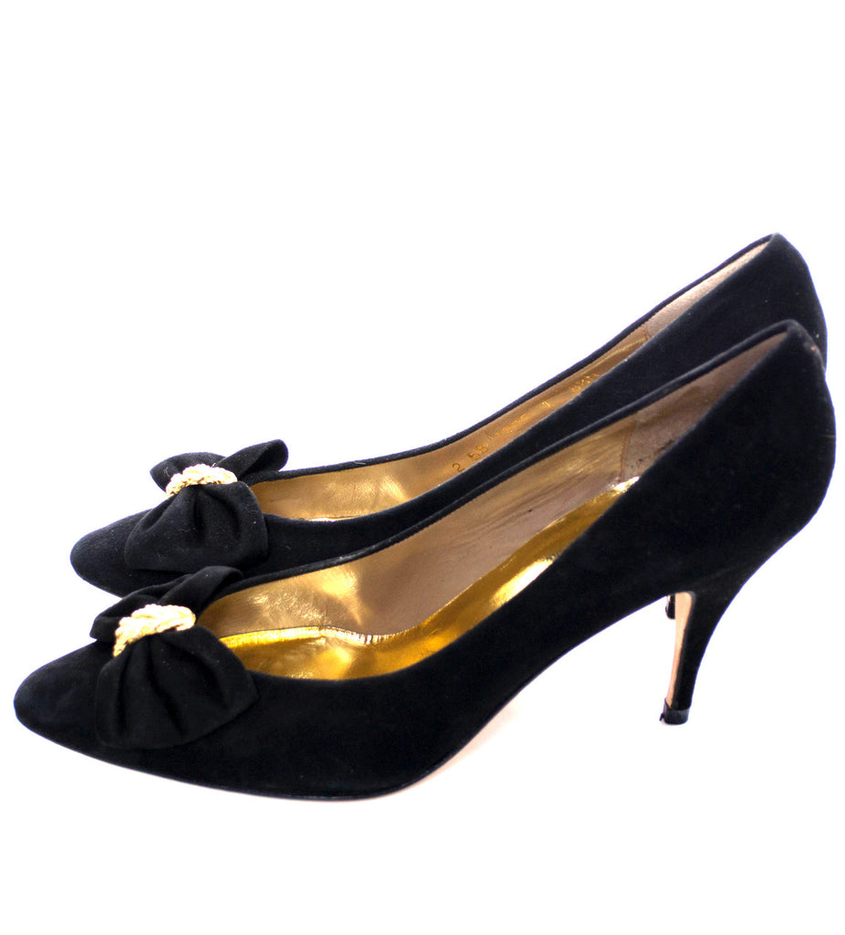 Norma Betancourt black suede shoes new 8.5