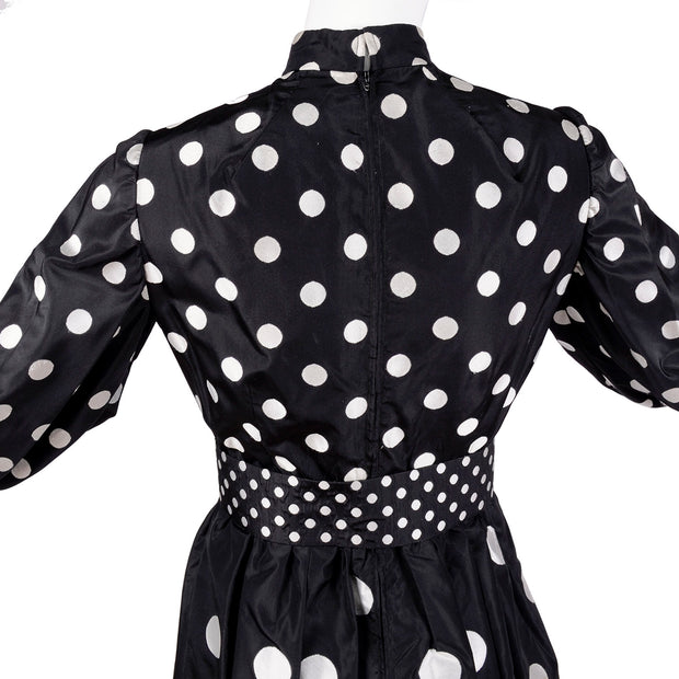 Norman Norell multi sized polka dot dress