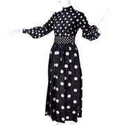 Norman Norell Polka Dot Long Dress