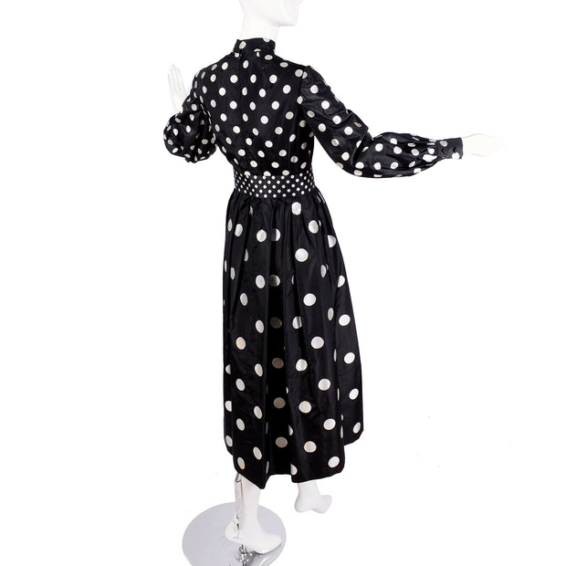 Norman Norell 1960's vintage polka dot dress