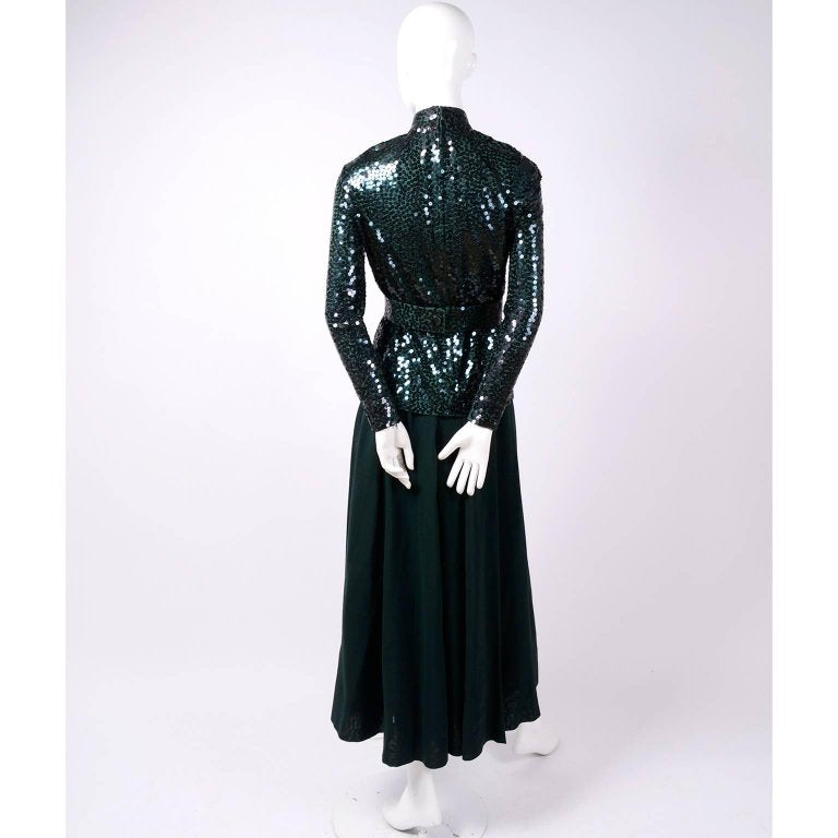 Norman Norell vintage dress with sequins