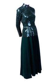 Custom Norman Norell sequin dress