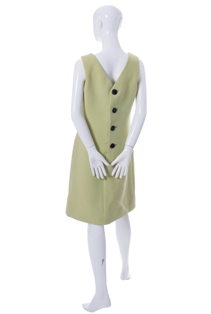 Norman Norell vintage 60s designer green dress