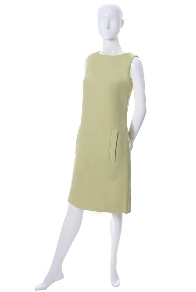 1960s green vintage Norman Norell dress