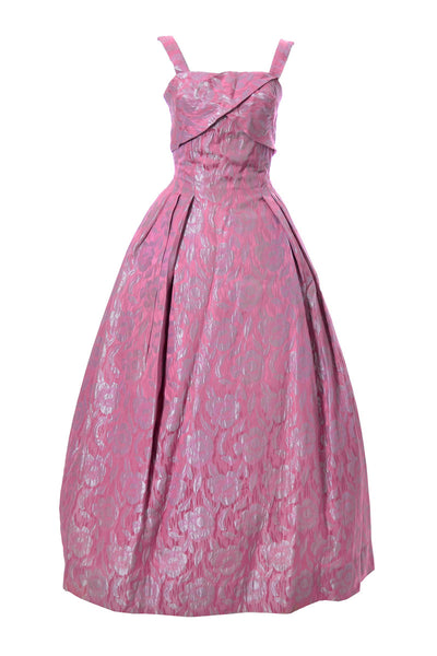 Vintage Norman Young London Pink Jaquard Dress - Dressing Vintage