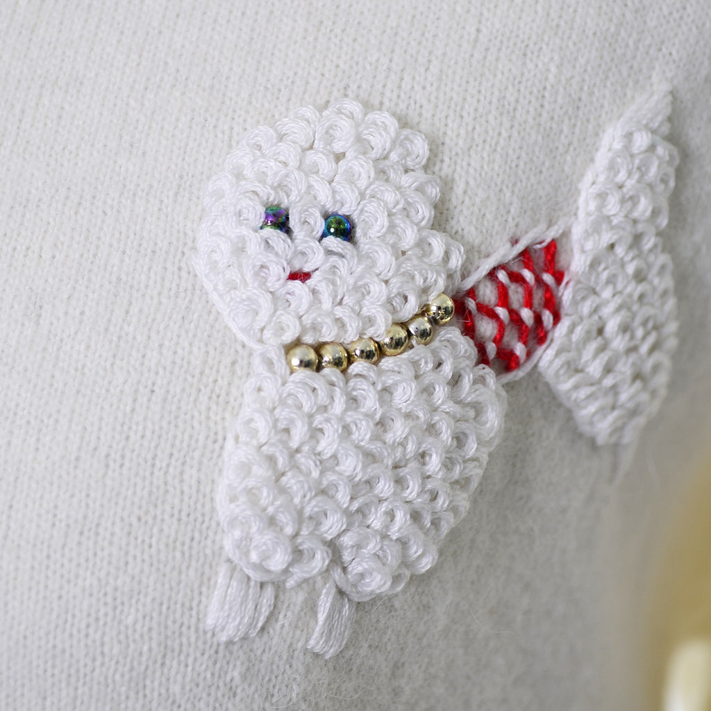 Novelty Cardigan Vintage Poodle Sweater