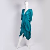 1970s Norma Kamali OMO Vintage Silk Butterfly Dress
