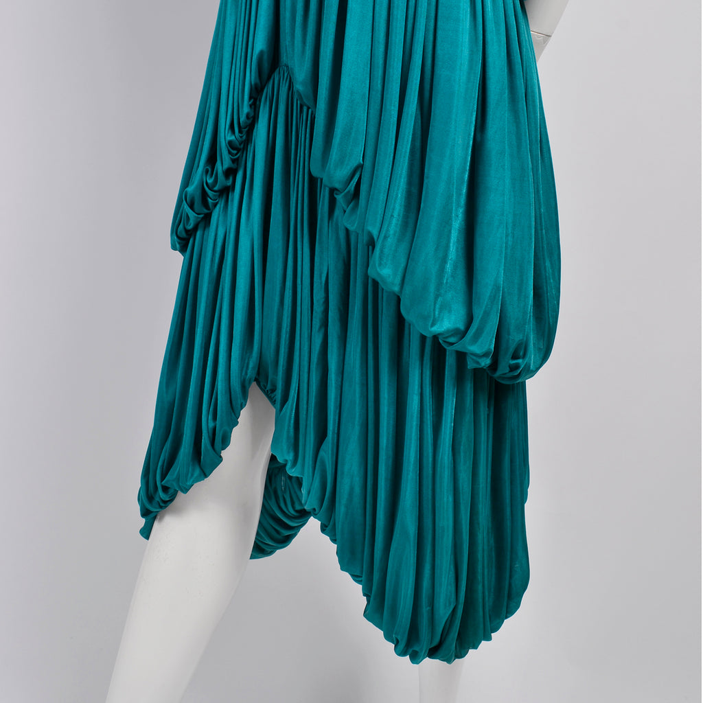 Rare Norma Kamali 1970s Vintage Silk Butterfly Dress