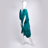 70s Norma Kamali OMO Vintage Silk Butterfly Dress