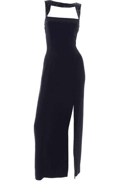 Oleg Cassini Black Tie Evening Gown Size 10