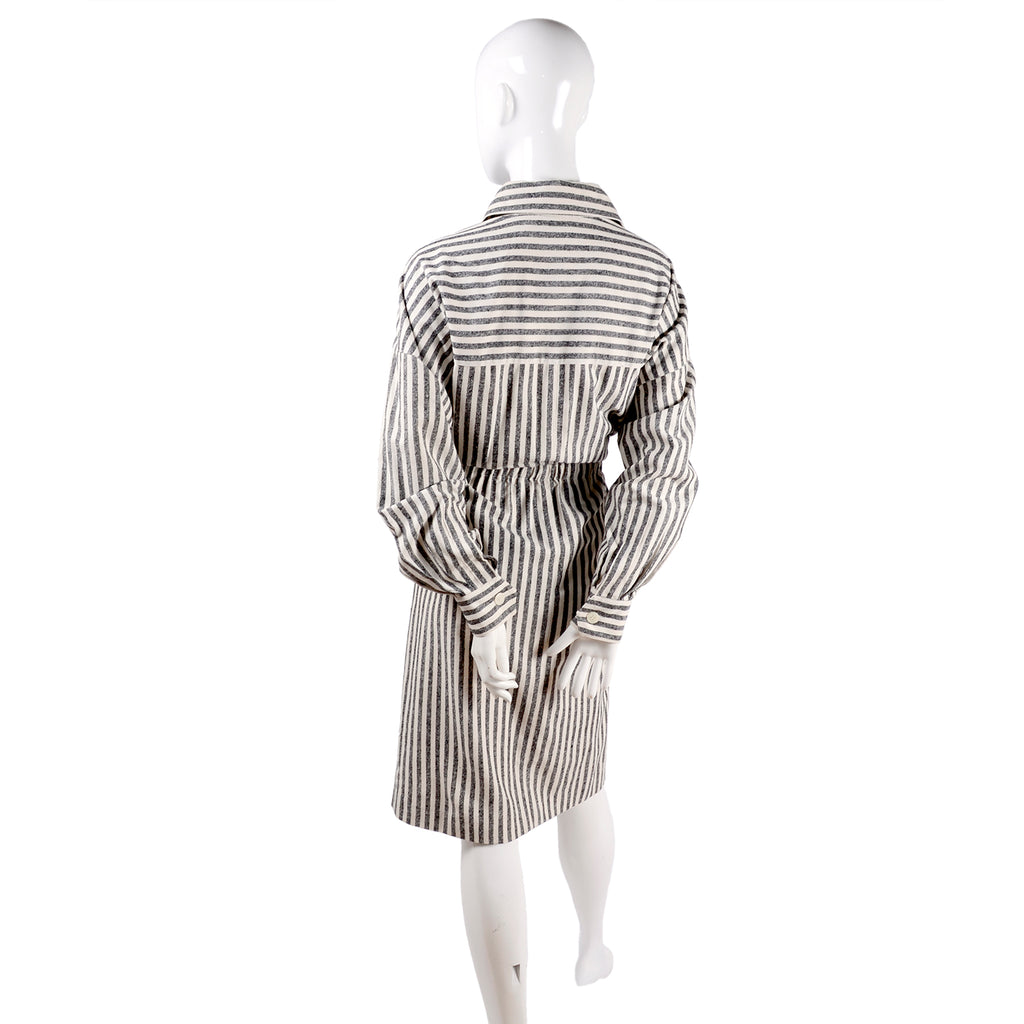 Oleg Cassini Vintage Striped Shirt Dress