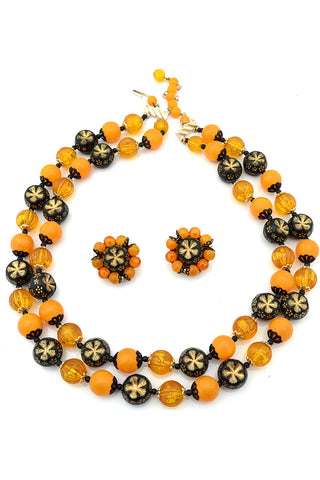 1960s Beaded Multi Strand Vintage Necklace Made in Japan