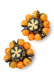 Hong Kong 1960s Vintage Necklace Earrings Beaded