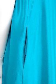 Oscar de la Renta Sleeveless Caribbean Blue Silk Bubble Dress Resort 2009 pockets