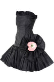 Oscar de la Renta Vintage Strapless Black Dress