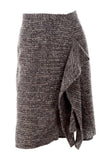 Oscar de la Renta tweed skirt with ruffle