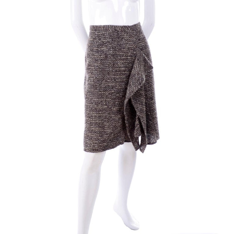 Pre-Fall 2009 Oscar de la Renta wool and alpaca skirt