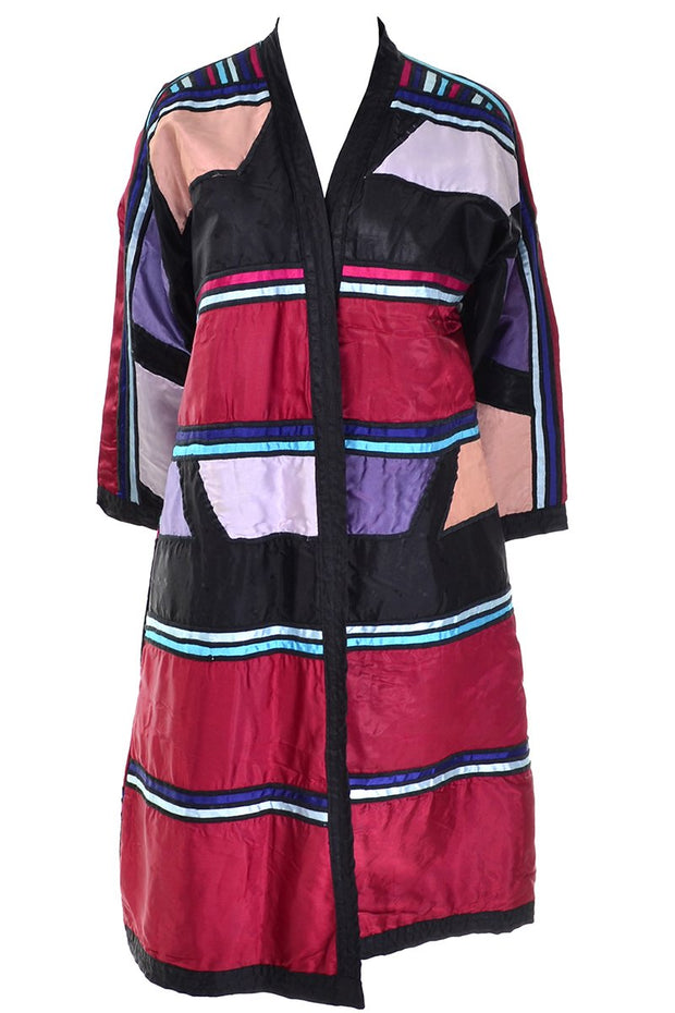 Reversible colorful patchwork Vintage Coat