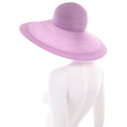 90s Vintage Purple Patricia Underwood Wide Brim Summer Hat