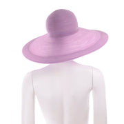 1990s Vintage Purple Patricia Underwood Wide Brim Summer Hat