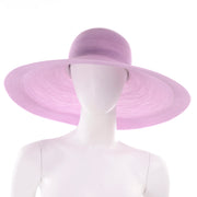 Vintage Purple Patricia Underwood Woven Wide Brim Summer Hat