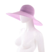 Vintage Purple Patricia Underwood Wide Brim Summer Hat 90s