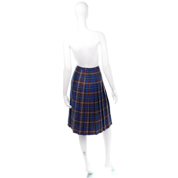 Peck & Peck Vintage Plaid Midi Skirt