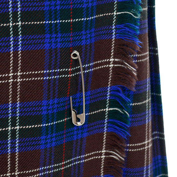 Peck & Peck Brown and Blue Wool Kilt Skirt