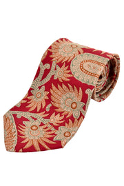 Pierre Balmain vintage silk men's tie floral with paisley