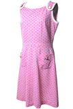 Pink and White Mod 1960's Vintage Dress Large - Dressing Vintage
