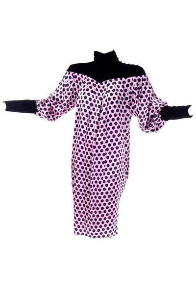 Ungaro vintage silk polka dot tent dress