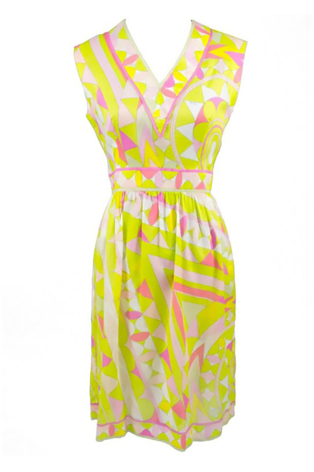 Neon Green and Pink Pucci Cotton Sun Dress