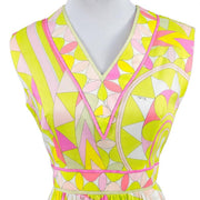 Bright pink, green and yellow Emilio Pucci Signature dress