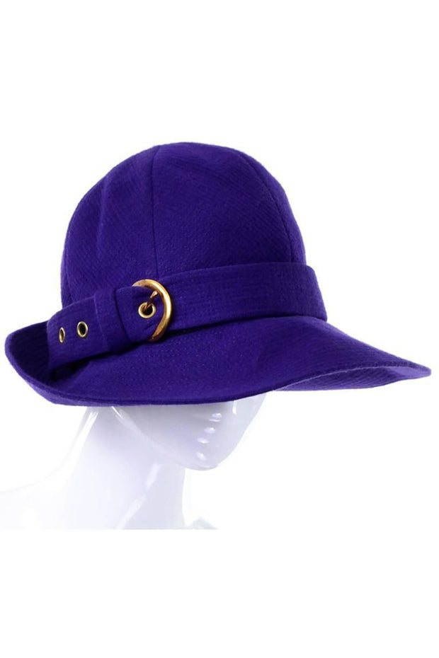 Purple wool vintage Yves Saint Laurent trilby hat