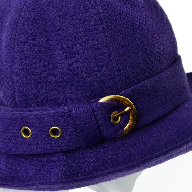 Yves Saint Laurent 1960's purple wool trilby hat 22""
