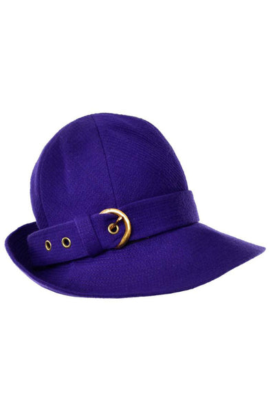 1960's Trilby hat from YSL purple wool vintage hat
