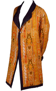 Vintage Moroccan Style Quilted Silk Jacket