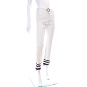 Ralph Lauren Nautical White Leather Pants w/ Original Tag